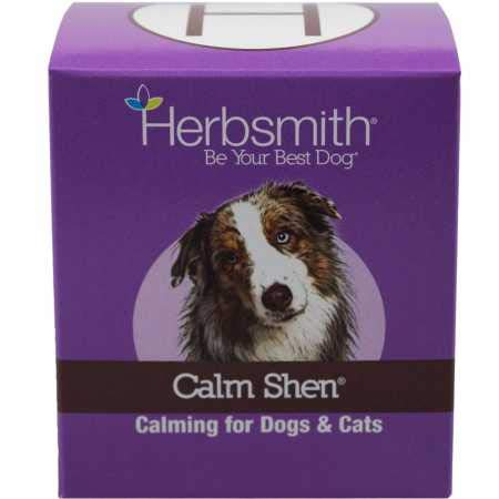Herbsmith Calm Shen - Herbal Blend for Dogs & Cats - Natural Anxiety Remedy for Dogs & Cats - Feline and Canine Calming Supplement - 150g Powder by Herbsmith
