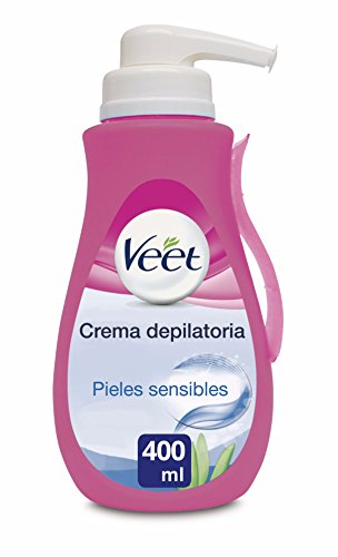 Veet Crema Depilatoria - con Dosificador, Piel Sensible 400ml: Amazon.es: Salud y cuidado personal