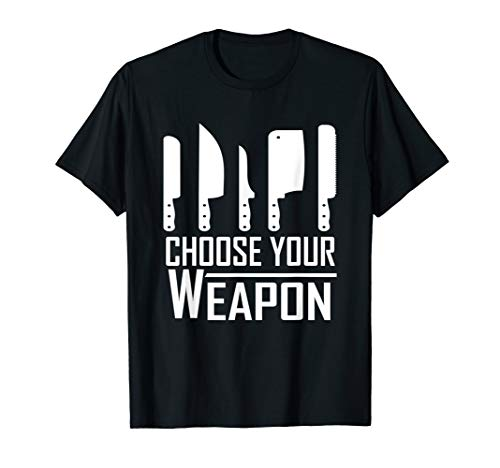 Chef Tools T Shirt - Choose Your Weapon - Knives Design
