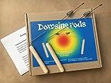 Set of 2 dowsing divining L rods 23 cm