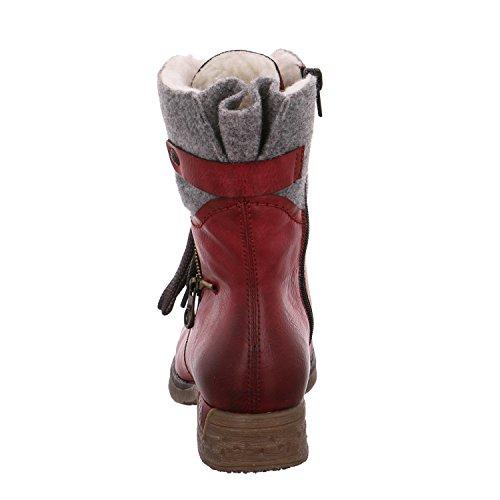 Rieker 79609-35 - Botas de Piel para mujer rojo rojo 36 Rojo
