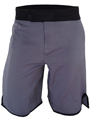 Blank WOD Shorts by Epic MMA Gear (Men 34, Grey/Black)