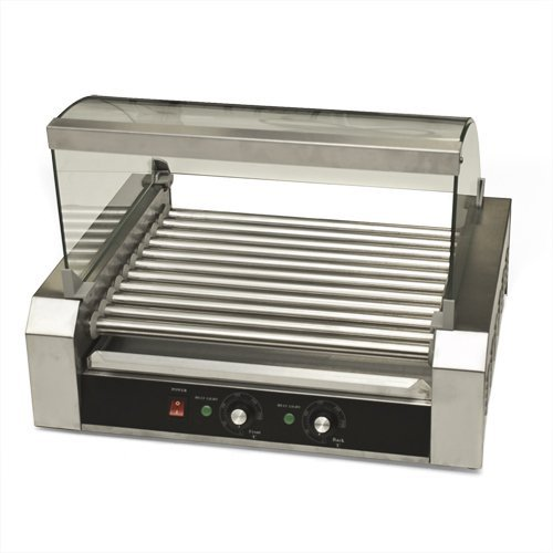 New Commercial 30 Hot Dog Roller Grill Cooker Machine 2200 Watts Vending Business