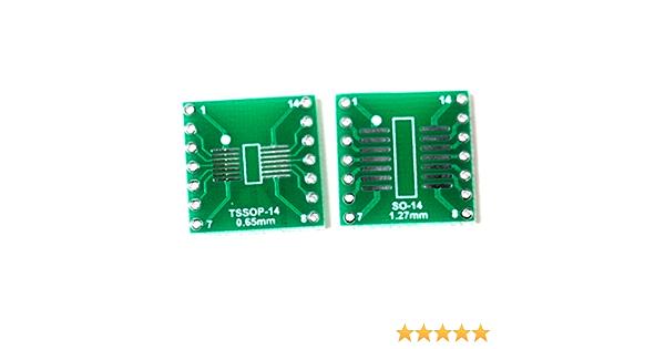 5Pcs SO//SOP//SOIC//SSOP//TSSOP//MSOP14 to DIP 14 Adapter PCB Board Converter.sMA