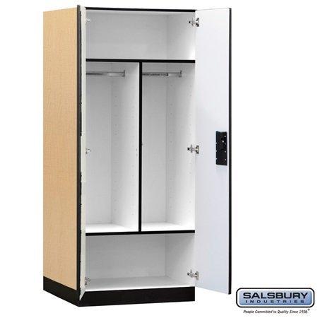 Salsbury Industries Designer Wood Storage Cabinet Wardrobe, 76-Inch-24-Inch, Maple