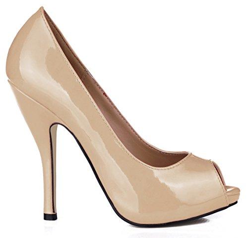 talon à noir Nude boîtes l'automne pointe cuir chaussures réception femmes chaussures de qualités des Nouveau dans et de les poisson chaussures pearl color sur haut vernis Cliquez SqH1wgx