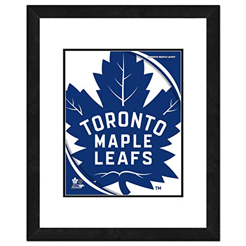 (NHL Toronto Maple Leafs Team Logo Double Matted & Framed Photo, 22.5