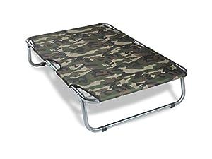 "best Van Ness 33"" x 21"" x 7.25"" Fold & Go Large Portable Pet Cot, Camouflage, Large"