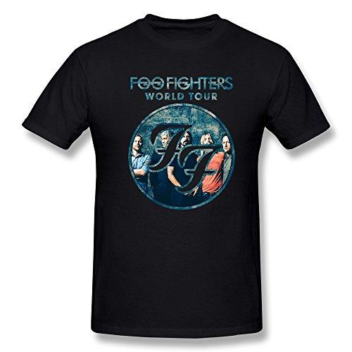 YvonneArt Men's Foo Fighters Sonic Highways World Tour Poster Tee Black Large