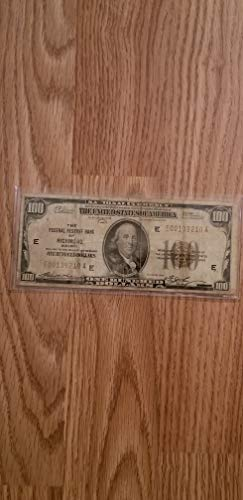 1929 $100 FEDERAL RESERVE NOTE - RICHMOND-AFFORDABLE POST-WWI CURRENCY-VERN'S CARD & COIN $100 VG