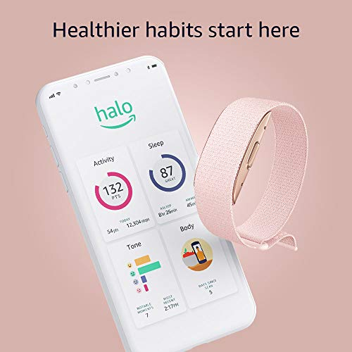 Introducing Amazon Halo – Measure body composition, activity, sleep, and tone of voice - Blush + Rose Gold - Small