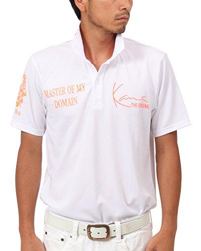 [カールカナイ ゴルフ] Karl Kani GOLF ポロシャツ 蛍光 プリント ポロシャツ 182KG1211 オレンジ Lサイズ