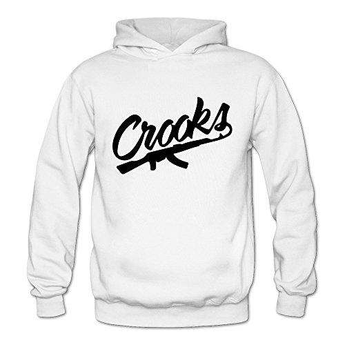 Women's Crooks And Castles Logo Hoodies XXL White ()