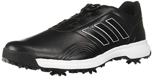 (adidas Men's CP Traxion BOA Golf Shoe core Black/FTWR White/Silver Metallic 9 W US)