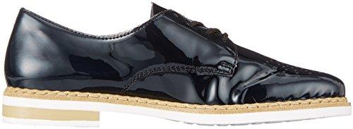 N0413 para Marine Derby Cordones Zapatos Rieker de Azul Mujer HTwqadA