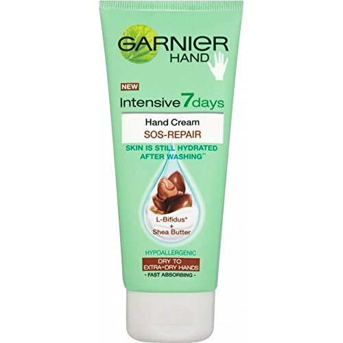Garnier Intensive 7 Days SOS-Repair Hand Cream - Shea Butter (100ml) - Pack of 2 (Lotion Still Body Mandarin)