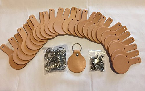 Round Leather Key Fob kit - Leather Ohio