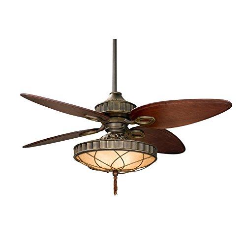 Fanimation LB270VZ-220 Bayhill 4-Blade Ceiling Fan with 220-Volt Filigree Bowl Light Kit, 56-Inch, Venetian Bronze