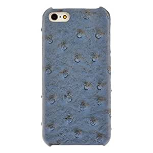 get Fake Ostrich Pattern PU Hard Case with Interior Flocking Protection for iPhone 5/5S (Optional Colors) , Black
