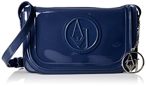 Armani Jeans Eco Patent Crossbody, - Armani Bag Women