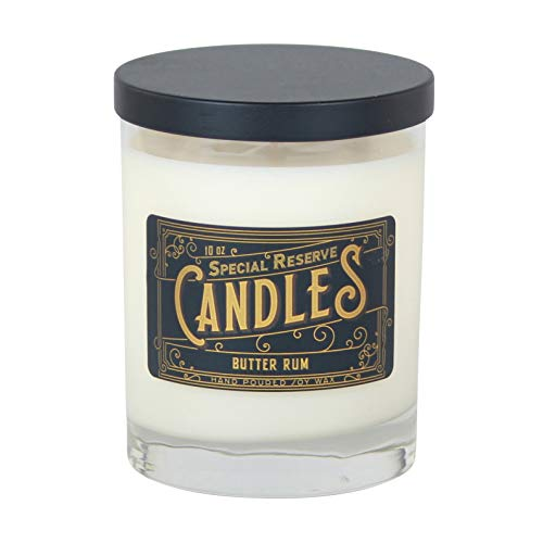 Special Reserve Candles Butter Rum Scented Soy Wax Candle - Libbey Tumbler with Black Metal Lid - 10 oz. ()