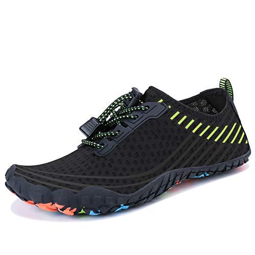 Shoes Mens Swim Athletic - MAYZERO Summer Water Shoes Men Women Quick Drying Swim Surf Beach Pool Shoes Wide Toe Hiking Aqua Shoes