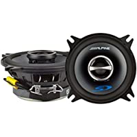 Alpine 4 Coaxial 2 Way 140W 4 Ohm Wide Range Car Audio Speakers SPS-410 (Pair)