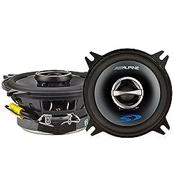 "Alpine 4"" Coaxial 2 Way 140w 4 Ohm Wide Range Car Audio Speakers Sps-410 (Pair)"