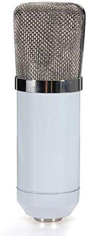 スピーカーカラオケマシン BM700コンデンサーマイクダイナミックレコーディングでショックマウントブラックホワイト カラオケの歌唱ステージと野外活動のために (Color : White, Size : One size)
