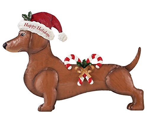 Seasonal Dachshund Dress Up Outdoor Decoration, Dog With Holiday Outfit (Pumpkin Outfit For Dogs)