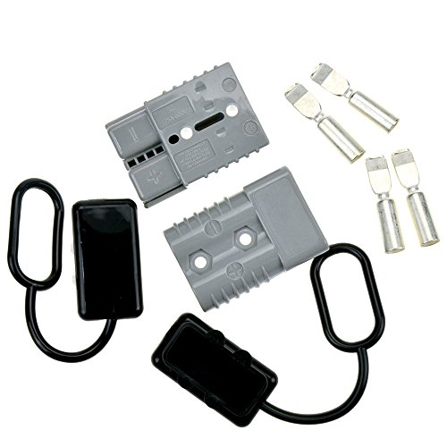 - STARSIDE Battery Quick Connector Kit 175A 1/0AWG Plug Connect Disconnect Winch Trailer Grey with Waterproof Cap