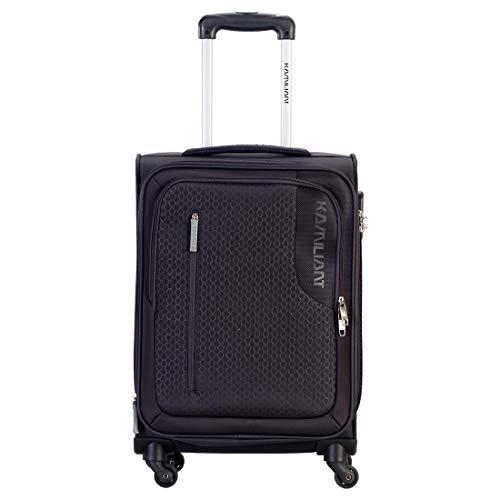 Kamiliant by American Tourister Kam Kojo Polyester 56.5 cms Grey Softsided Cabin Luggage (KAM KOJO SP 56.5 cm – Grey)