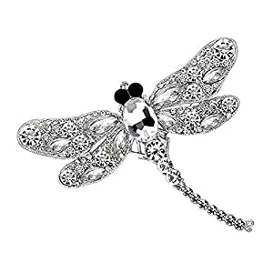 Bledyi Ladies Creative Dragonfly Brooch Diamond Brooch Girl Personality Crystal Insect Brooch Metal Brooch Suitable for…