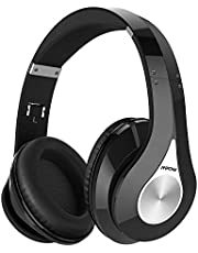 Mpow 059 Bluetooth Headphones Over Ear, 20h Playing, Hi-Fi Stereo Wireless Headset, Foldable, Soft Memory-Protein Earmuffs, Built-in Mic and Wired Mode for Cell Phones/Tablet-Gray