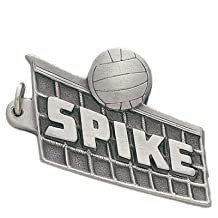 "Pewter Vollyball ""Spike"" Keychain / Key Chain"