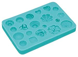 Sweetly Does It Rosettes Silicone Fondant Mould 10.5x7cm Cupcake Cake Decoration by Kitchencraft