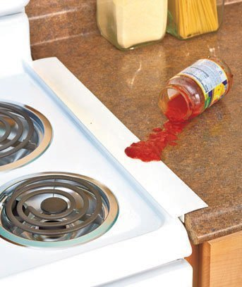 Set Of 2 White Silicone Counter Gap Covers By Ltd Commodities