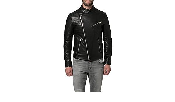 Men Leather Jacket New Soft Lambskin Slim Biker Bomber Coat T1309