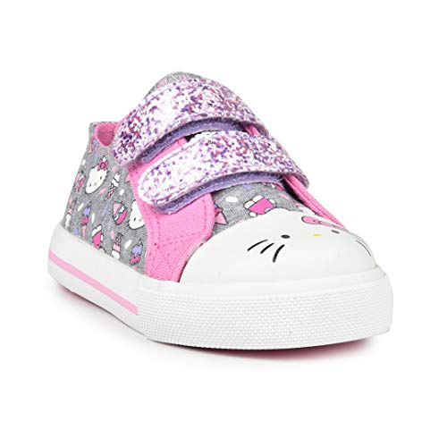 Hello Kitty Lil Frosty Girls Toddler Fashion Sneakers (Kitty Glitter Hello Shoes)