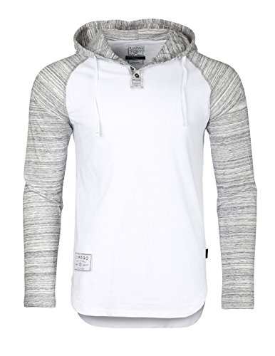 Zimego+Long+Sleeve+Raglan+Henley+Hoodie+Round+Bottom+Semi+Longline+T-Shirt+%28Large%2C+ZFLS140H+White+Fulfilled+By+Amazon%29