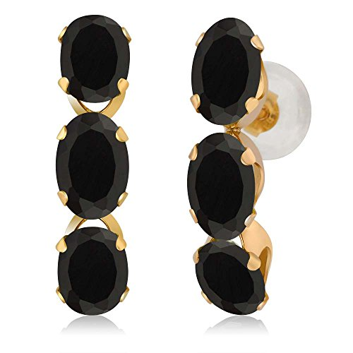 2.34 Ct Oval Black Onyx 14K Yellow Gold (14k Yellow Gold Onyx)