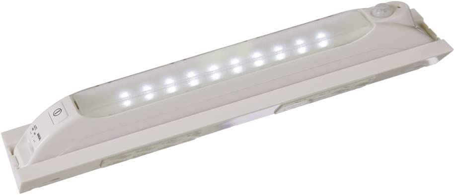 Light IT By Fulcrum, 10-LED Wireless Anywhere Motion Sensor Light, Portable or with Mounting Bracket, White