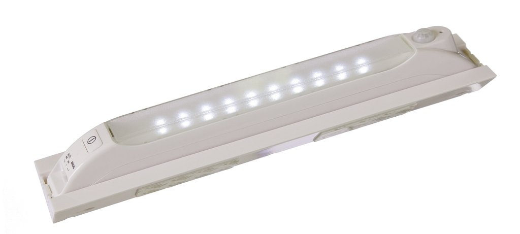 Light It! By Fulcrum 30050-308, Portable or with Mounting Bracket Wireless Anywhere Motion Sensor Light, 11.7 Inch, White