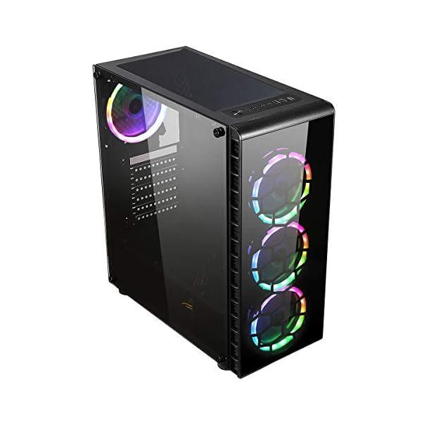 Raider Glass RGB LED Gaming Case