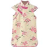 Theplus Girls Kids Cheongsam Chinese Qipao Floral Pattern Mini Dress