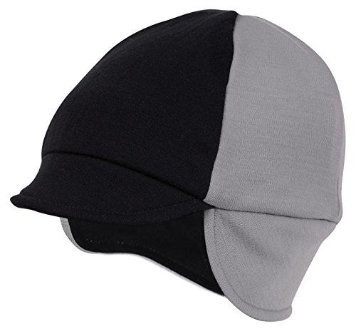 Pace Reversible Merino Wool Hat, Silver/Black, One ()