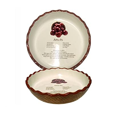 Bamboo Studios Decorative Apple Pie Plate, 8-Inch