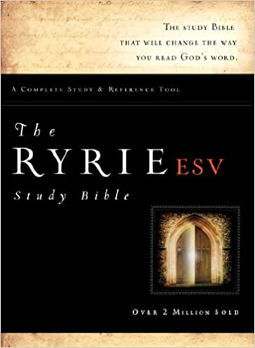The Ryrie ESV Study Bible Bonded Leather Black Red Letter Indexed