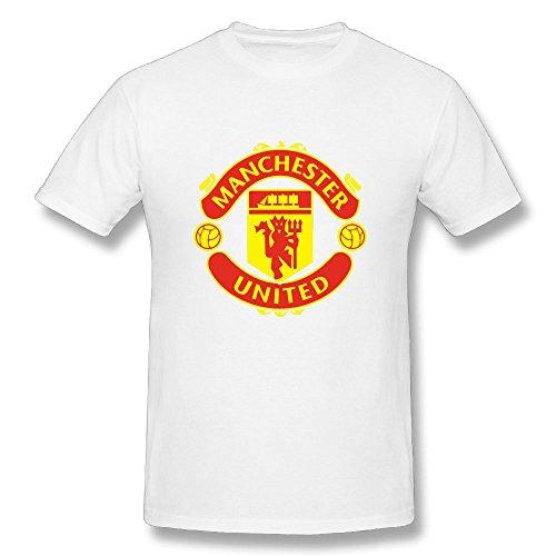 - Manchester United Soccer Men's Short Sleeve Classic Cotton White M