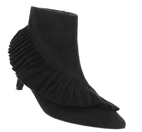 Schuhcity24 Damen Schuhe Stiefeletten Boots Schwarz